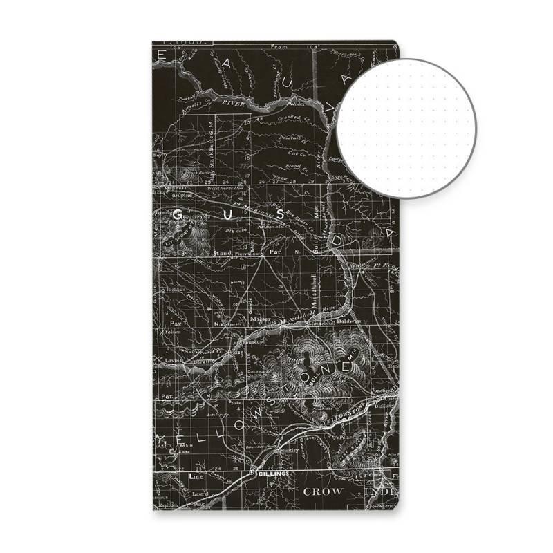 Zeszyt w kropki Mapa