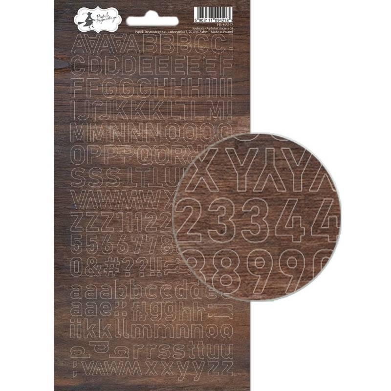 Arkusz naklejek z literkami Soulmate 01, 10,5 x 23cm