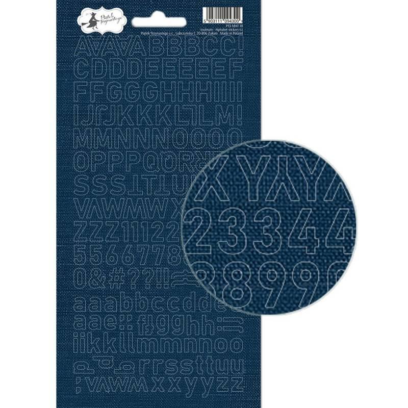 Arkusz naklejek z literkami Soulmate 02, 10,5 x 23cm
